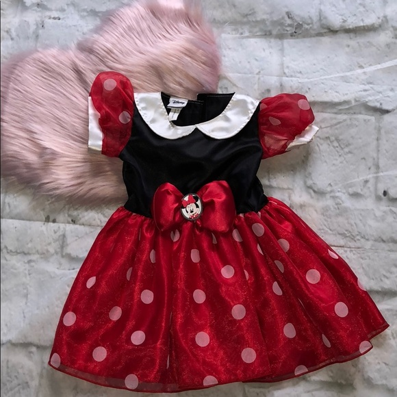 Disney Authentic Minnie Mouse Halloween Baby Bodysuit Size 3 6 9 12 18 24 Months